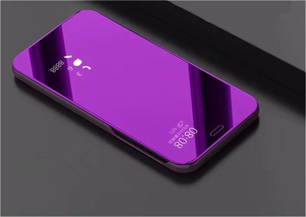 Case for Huawei Nova 3i Mirror Flip Leather Clear View Window Smart Cover