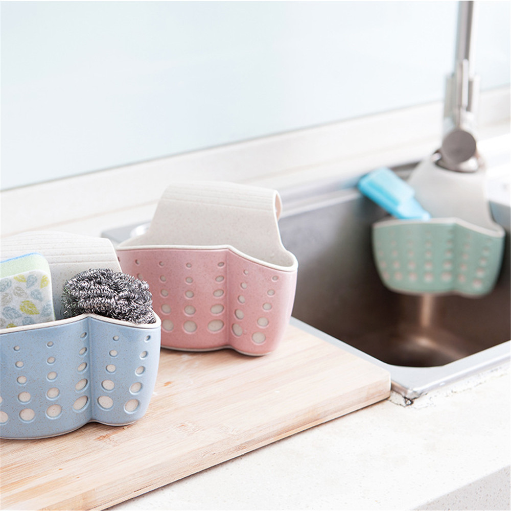 Sponge Storage Rack Basket Wash Cloth Or Toilet Soap Shelf- Pig Pink