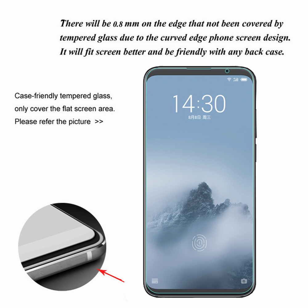 Screen Protector for Meizu 16 Plus Protection Film Ultra Thin HD Tempered Glass- Transparent