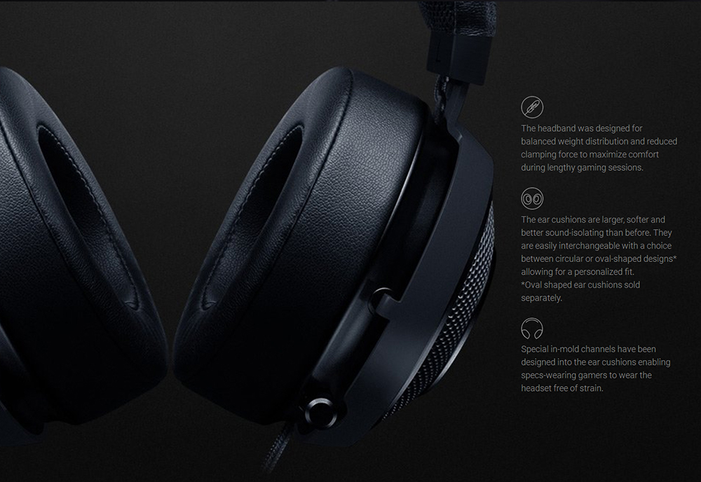 47fc1c860c1 Razer Kraken V2 Version 7.1 Surround Sound Over-ear Headphone Gaming Headset  with Retractable Digital