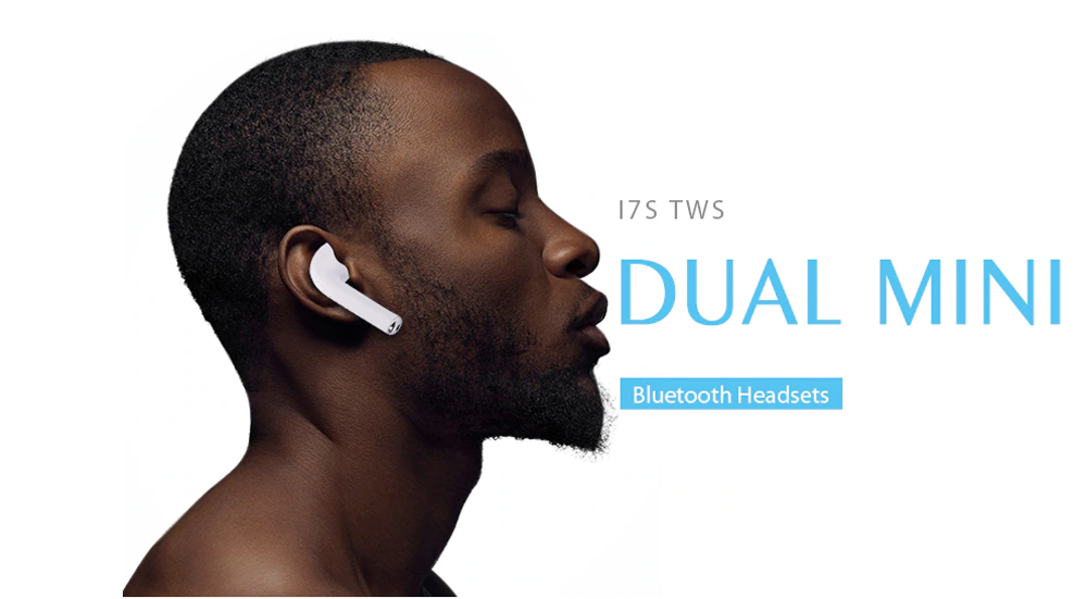i7s Wireless Earbuds Mini Bluetooth In-ear Earphones Dual Stereo Sweatproof Built-in Mic with Charging Box- White