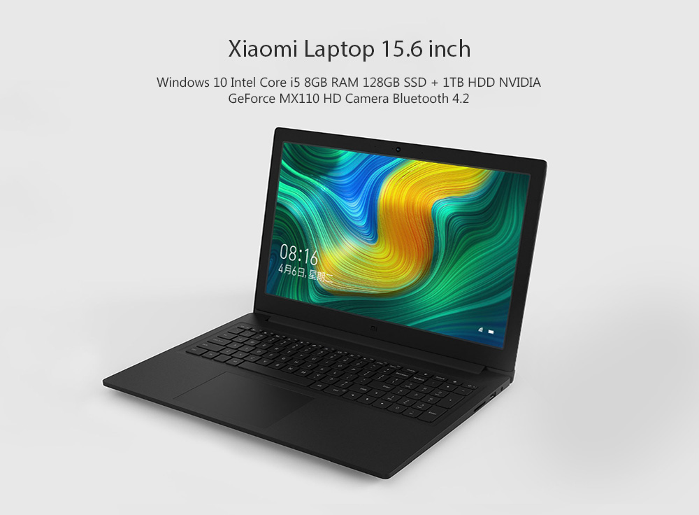 Xiaomi Mi Notebook Ruby 15,6 inch Windows 10 Intel Core i5 8GB RAM 128GB SSD + 1TB HDD Camera NVIDIA GeForce MX110 HD Bluetooth 4.2 - Xám đậm