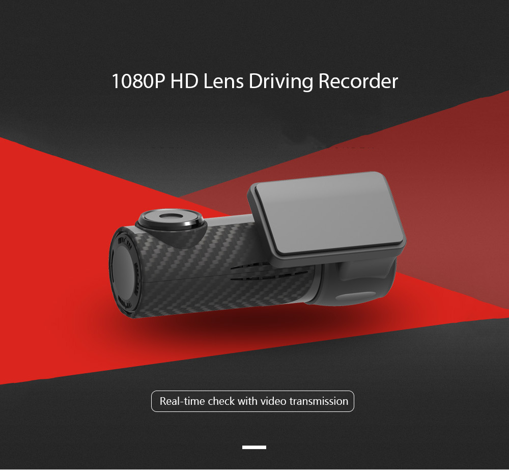 S700 Car DVR 1080P HD Lens Driving Recorder with Loop-cycle Recording and Parking Monitor Functions- Black