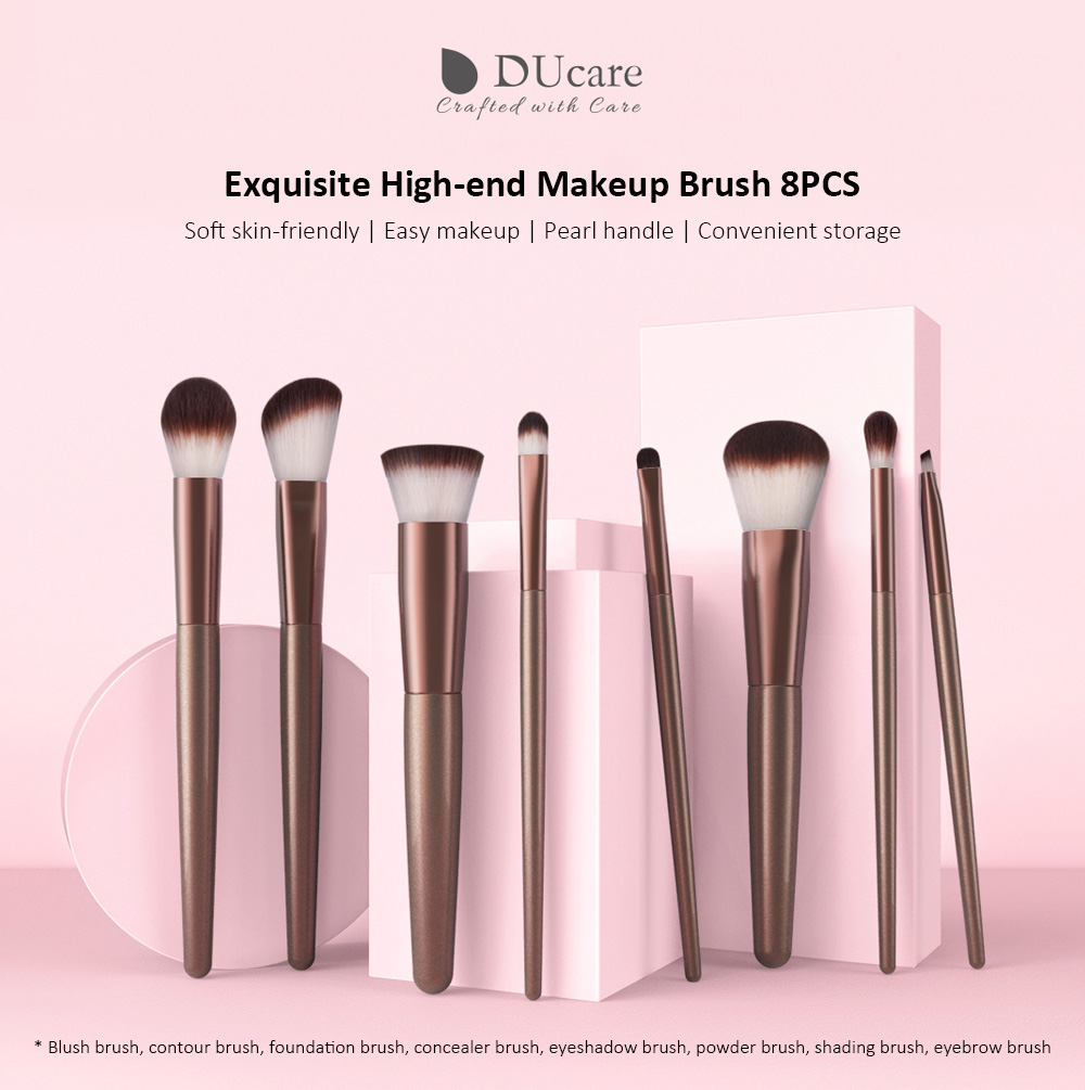 U802 B Xm Exquisite High End Makeup Brush From Xiaomi Youpin 36 Pcs Professional Cosmetic Facial Wood Make Up Brushes Tools Kit Set With Black Leather Case Skin Friendly