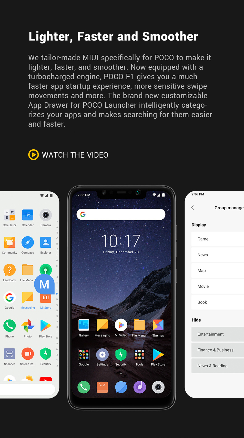 Xiaomi Pocophone F1 4G Phablet 6.18 inch Android 8.1 Qualcomm Snapdragon 845 Octa Core 2.8GHz 6GB RAM 64GB ROM 20.0MP Front Camera Fingerprint Sensor 4000mAh Built-in- Slate Blue