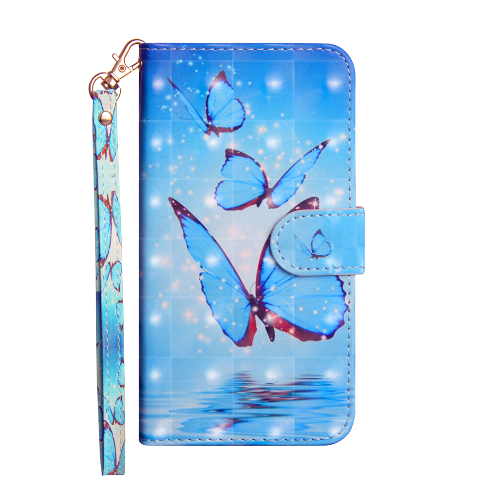 Custodia Flip Wallet per 3D Color Painting Cover per Xiaomi Redmi Note 5/5 Plus- Multi-B