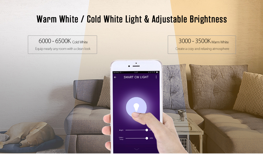 Utorch PZE - 911 - XDD Smart Voice Control LED Ceiling Light Support with Alex / Google Home- White