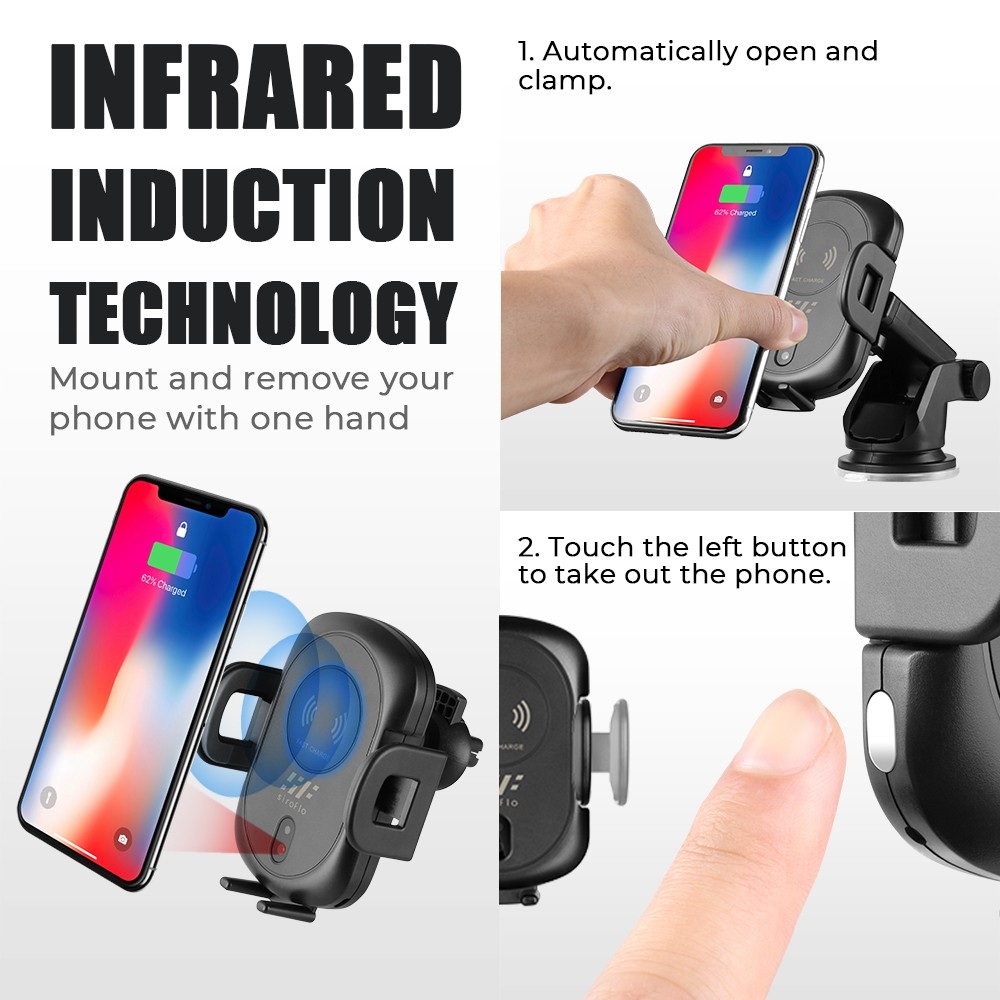 Siroflo A10  Wireless Car Charger Mount- Black