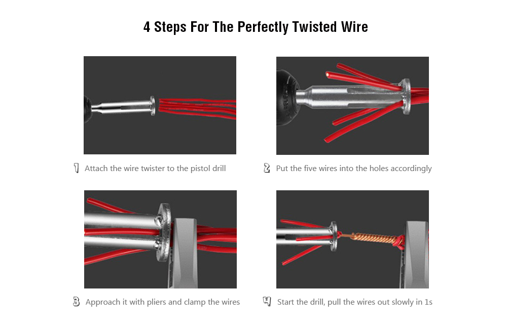 Automatic Safety Wire Twister for Electrical Drill - $5.29 Free ...