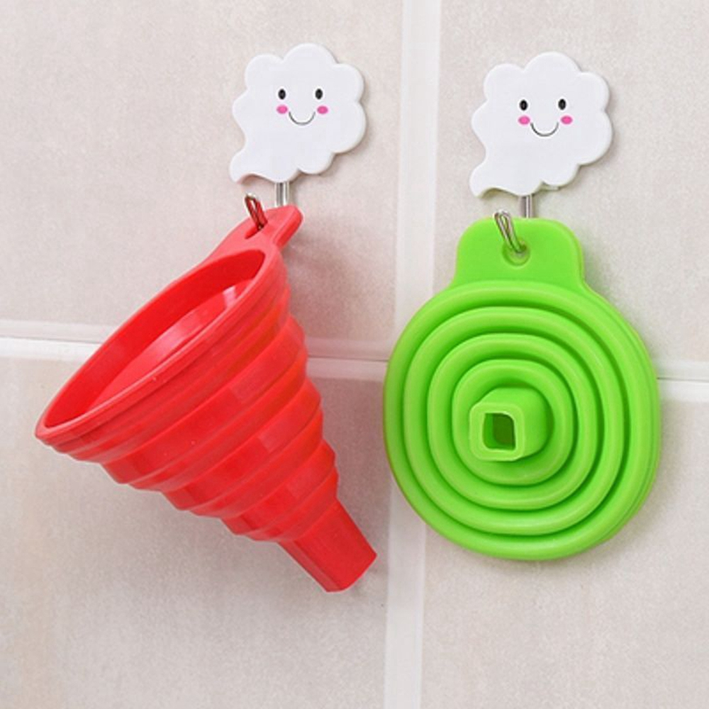 Silicone Collapsible Funnel for Liquid Transfer Kitchen Tool- Red