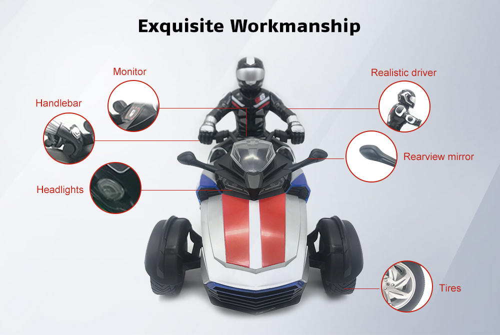 Yuandi YD898 - MT1903 1/8 Scale RC Motorcycle 27MHz