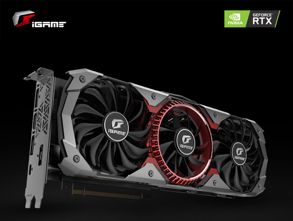 Gearbest Colorful iGame GeForce RTX 2080 Advanced Graphics Card - ASH GRAY 1710MHz GDDR6 8GB DP / HDMI / USB Type-C 2944 CUDA