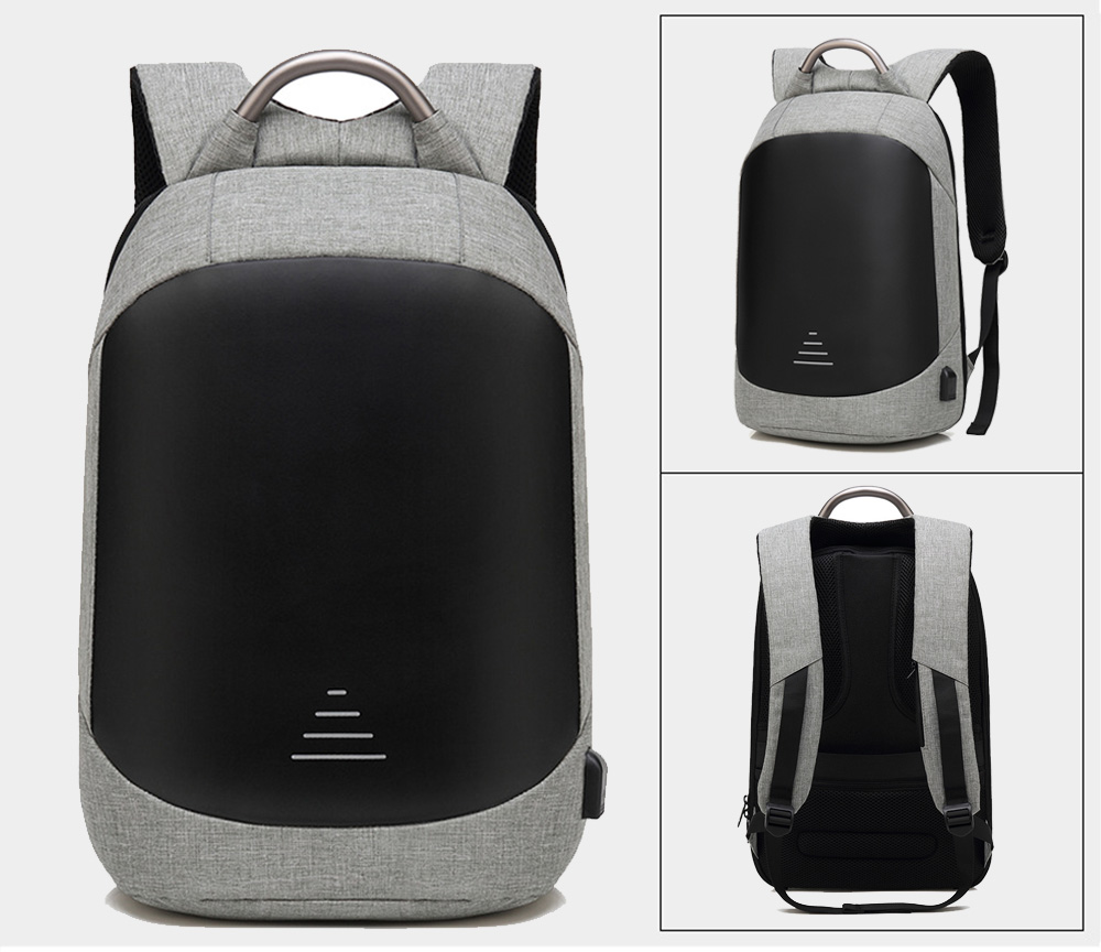 SWEETTOURIST Anti-theft USB Charge Port Backpack- Black