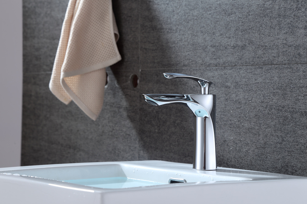 Washbasin  Faucet Bathroom Hot and Cold Water Mixing Valve- Platinum