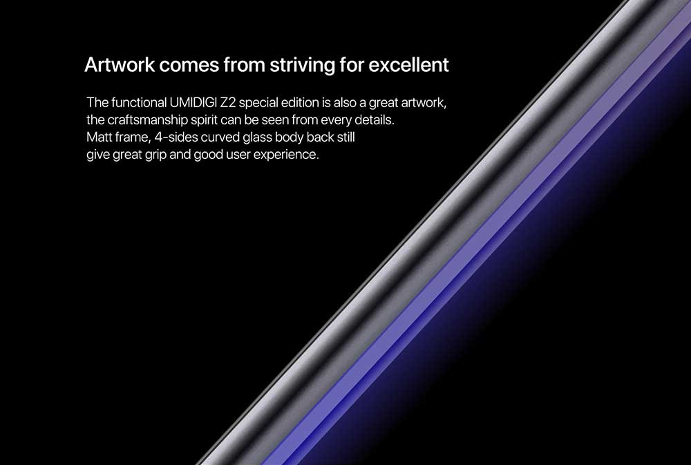 UMIDIGI Z2 4G Phablet 6.2 inch Android 8.1 Helio P23 2.0GHz Octa Core 4GB RAM 64GB ROM 16.0MP + 8.0MP Cameras Special Edition- Twilight