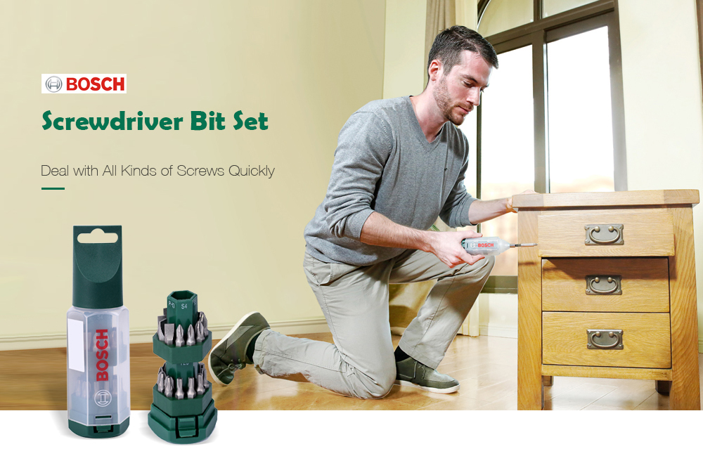Bosch Screwdriver Bit 25PCS Medium Sea Green