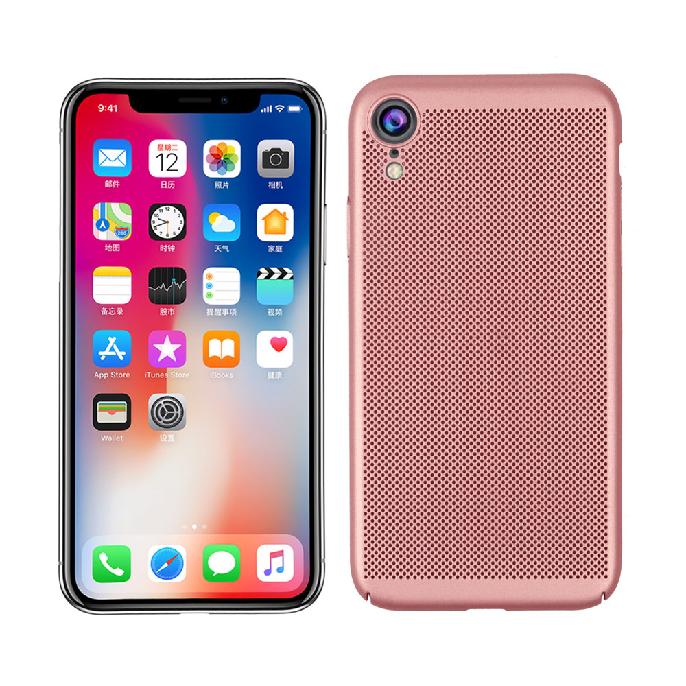 Heat Dissipation Ultra Thin Matte Hard PC Cover Case for iPhone XR- Lava Red