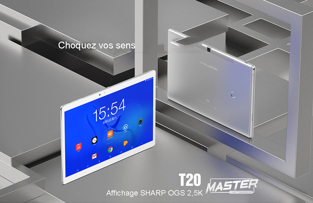 10,1 pouces MT6797X ( X27 ) Android 7,0- Silver
