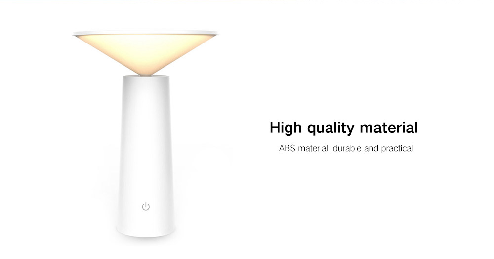 Touch Desk Lamp USB Rechargeable Night Light- White