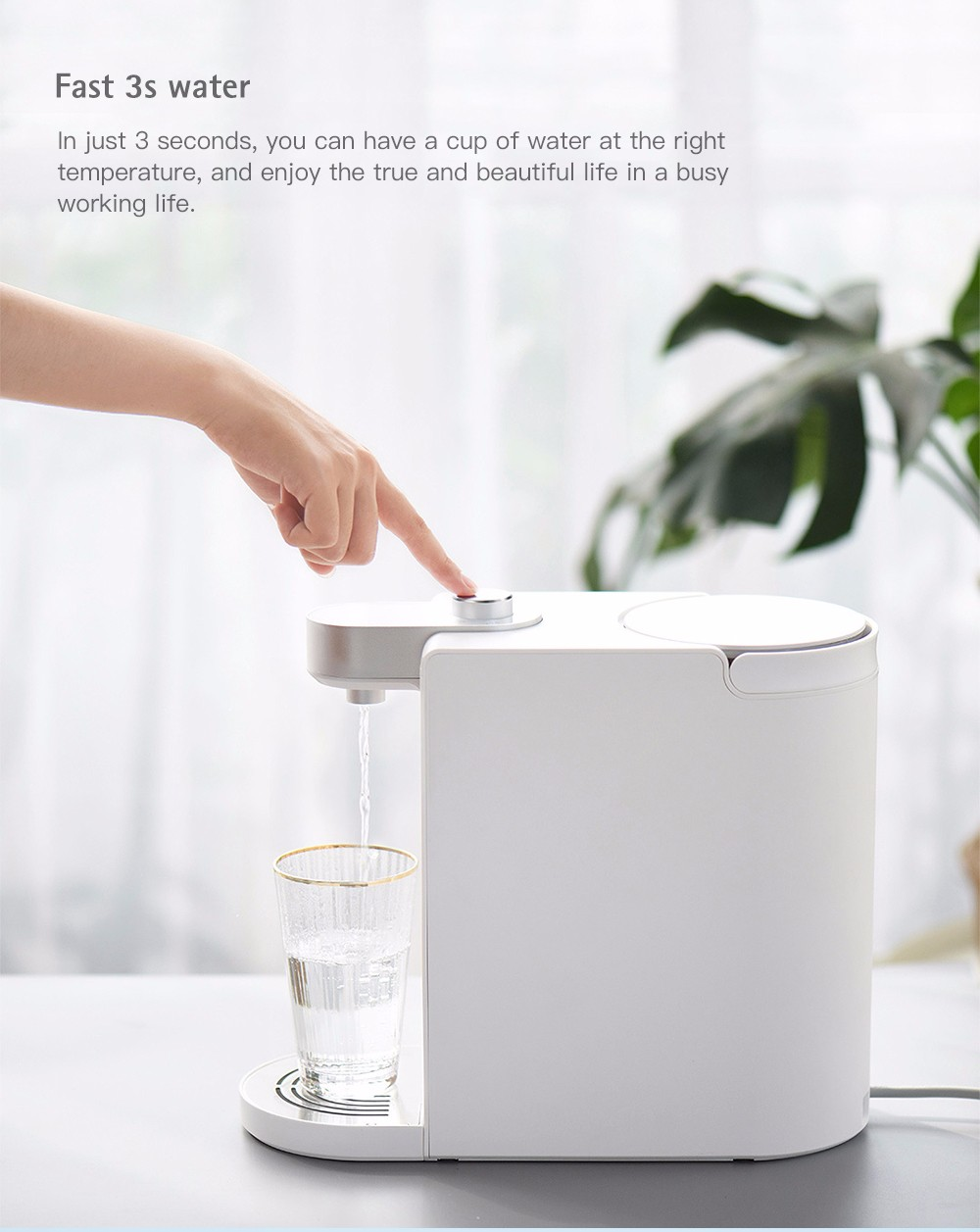 S2101 Minimalist Design Instant Heating Electric Water Dispenser from Xiaomi Youpin- White