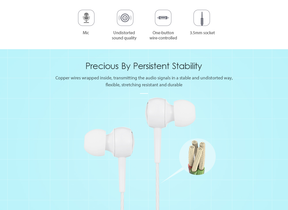 KYIN K28 Universal Wire Earphone 3.5mm In-ear Earbuds - $2.16 Free ...