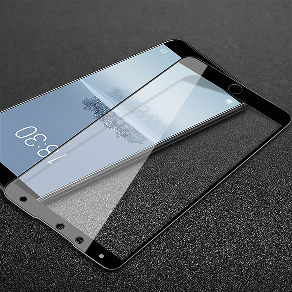 Tempered Glass Full Screen Protector for Meizu 15- Black