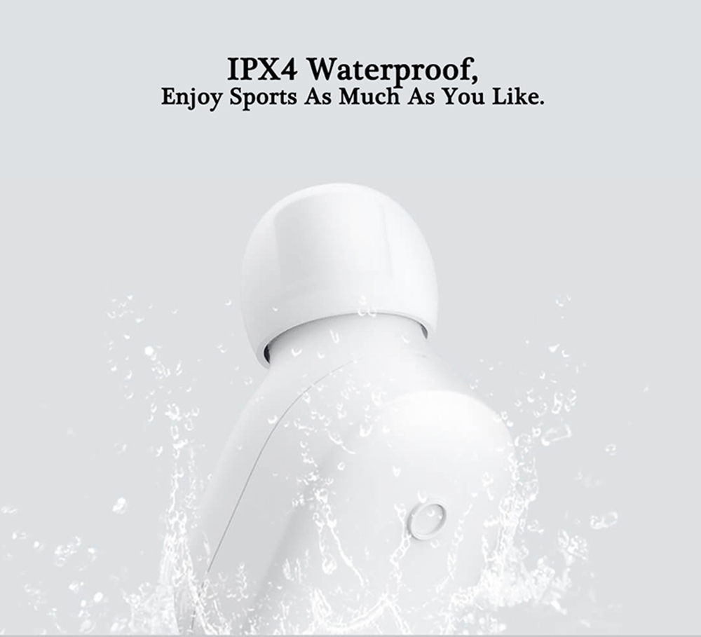 Original Xiaomi LYEJ05LM Mini In-ear Single Bluetooth Earphone Wireless Ultralight IPX4 Waterproof Earbud with Magnetic Charging- White