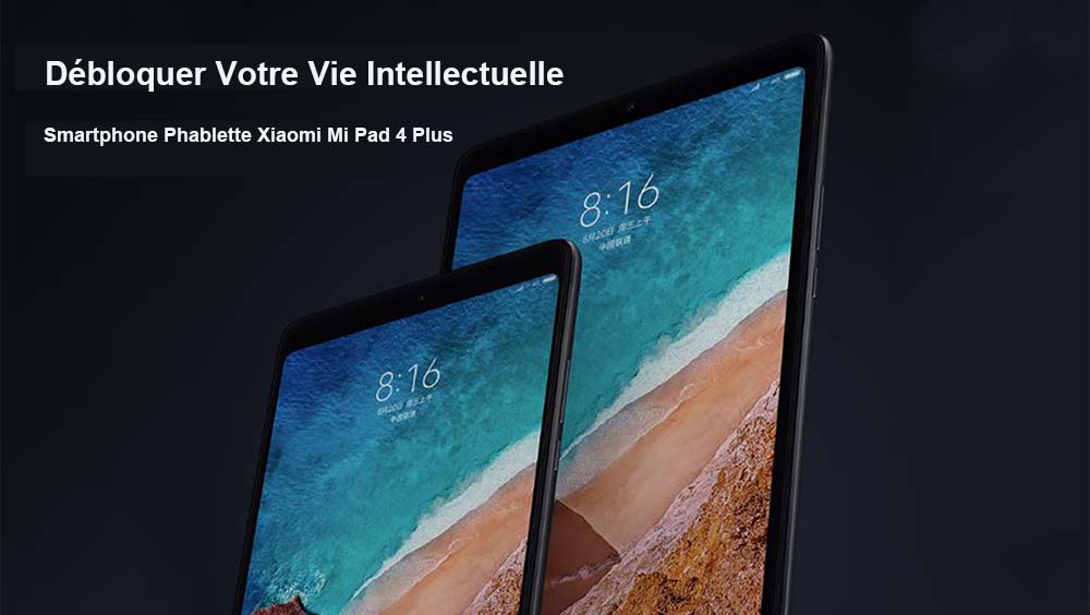 Xiaomi Mi Pad 4 Plus Tablette PC 4G 4Go + 64Go- Noir 64GB