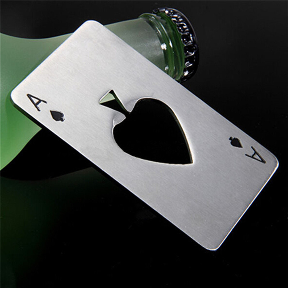 1PCS Bottle Opener Personalized Stainless Steel  - Silver