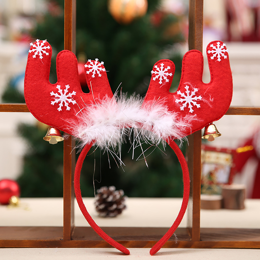 Ornamento di Natale Feathered Antler Headband- Red 22*3*22cm
