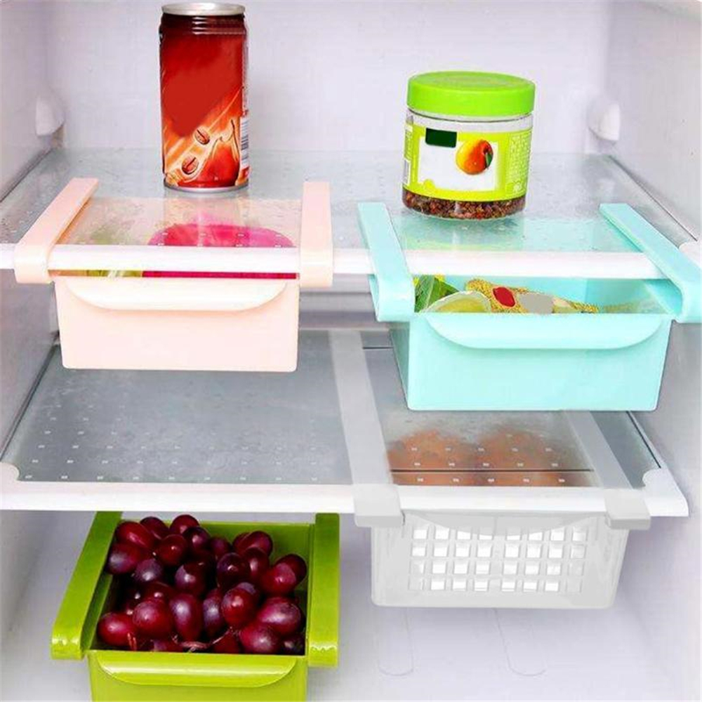 Kitchen Refrigerator Storage Box Fruit Organizer Container Fridge Drawers- Multi