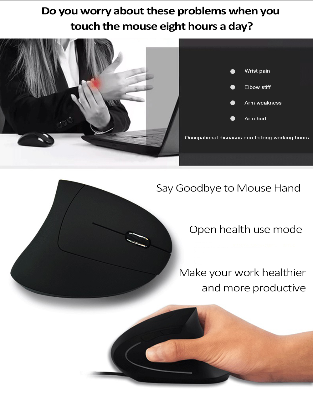 Hyw 69 Ergonomic Vertical Erect Design Wireless 24ghz Optical Arduino Radar How To Fade An Led With Your Breath Open Electronics Rgb Breathing Light Mouse