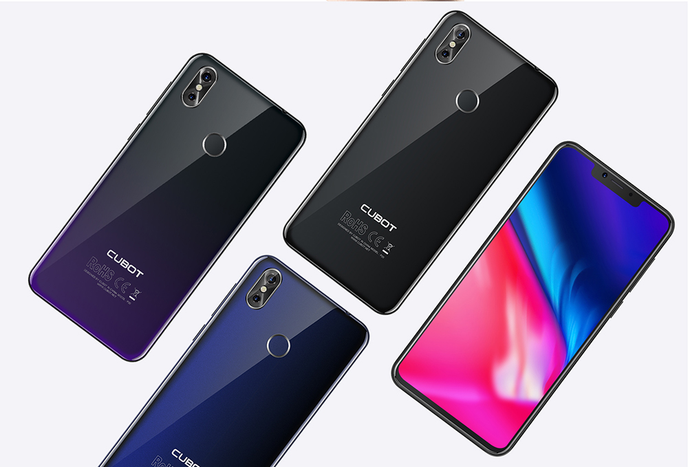 CUBOT P20 4G Phablet 6.18 inch Android 8.0 MTK6750T Octa Core 1.5GHz 4GB RAM 64GB ROM 20.0MP + 2.0MP Dual Rear Cameras Fingerprint Scanner Dual SIM Cards Dual Standby- Black