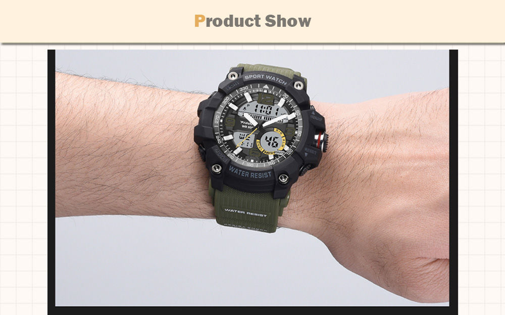 Panars Digital Watch Mens Led Display Watches For Men Wrist Watch Waterproof Large Face Fitness Male Diver Compass 8208 Watches