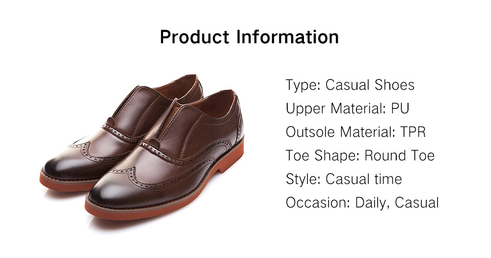 0c51cf9df4 XPER Classic Comfortable Durable Slip-on Casual Shoes for Men- Brown EU 45