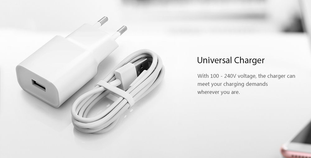 Original Xiaomi Charger Power Adapter + Type-C Data Cable 1m Set- Crystal Cream