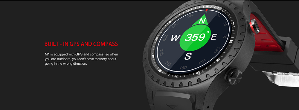 LEMFO M1 2G Smartwatch Phone 1.3 inch MTK2503 64MB RAM 128MB ROM Sedentary Reminder Bluetooth 3.0 + 4.0 320mAh Built-in- Black