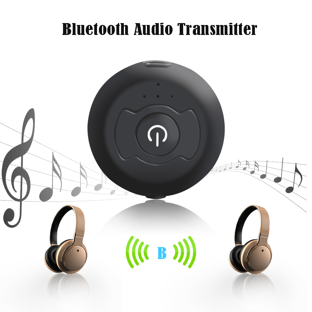 H - 366T Multi-point Bluetooth 4.0 Stereo Music Transmitter Audio Adapter- Black