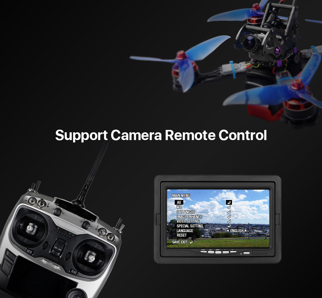 Foxeer HS1219 Mini Falkor 1200TVL Camera 16:9 / 4:3 PAL / NTSC Switchable GWDR FPV System- Black Lens 1.8mm
