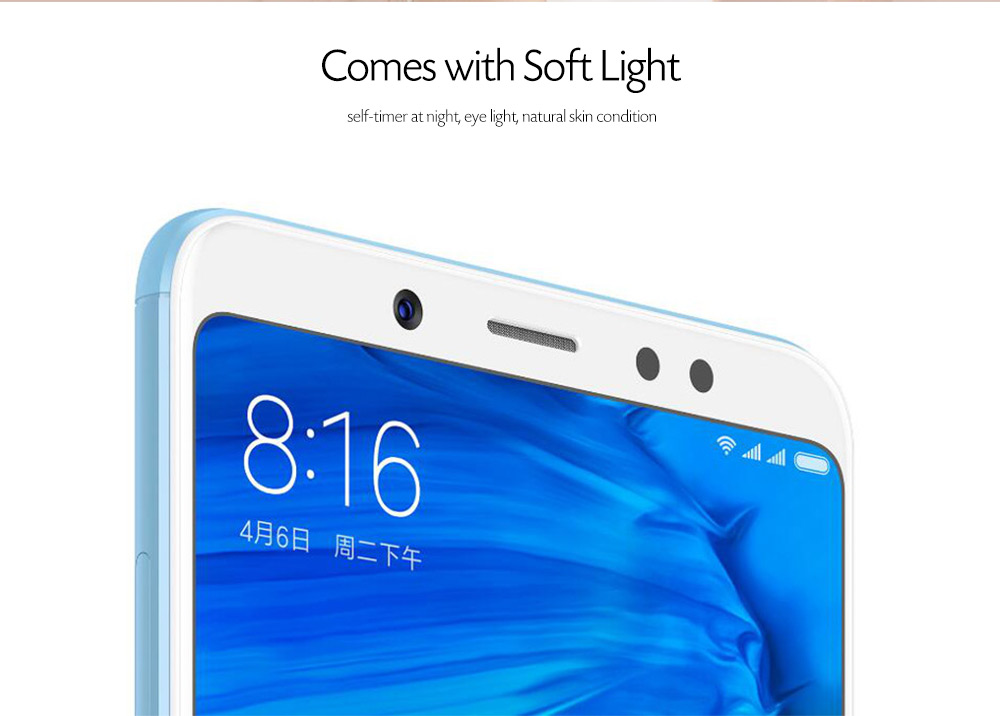 Xiaomi Redmi Note 5 4G Phablet 5.99 inch MIUI 9 Qualcomm Snapdragon 636 Octa Core 1.8GHz 4GB RAM 64GB ROM 12.0MP + 5.0MP Rear Camera Fingerprint Sensor 4000mAh Built-in- Rose Gold