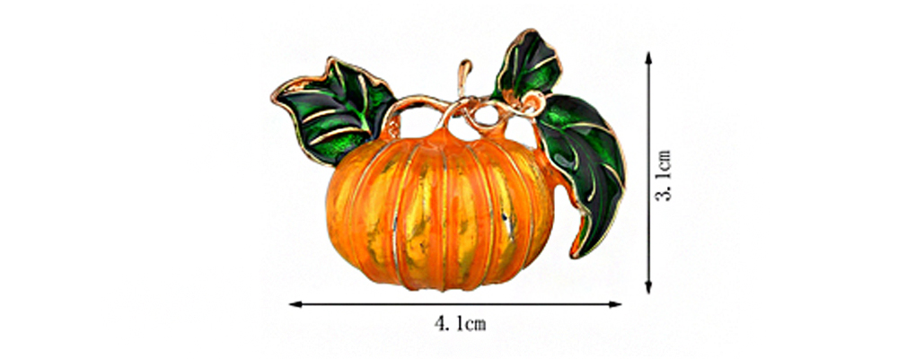 Women Creative Cute Brooch Stylish Personality - Halloween Orange