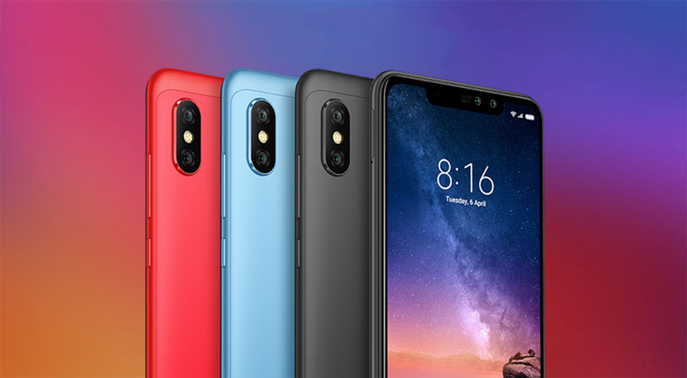 Xiaomi Redmi Note 6 Pro 4G Phablet 6.26 inch Qualcomm Snapdragon 636 Octa Core 1.8GHz 4GB RAM 64GB ROM 12.0MP + 5.0MP Rear Camera Fingerprint Sensor - Pink