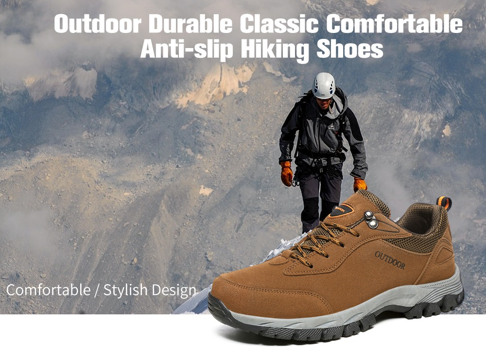 ea2dd1a0b268 Outdoor Durable Classic Comfortable Anti-slip Hiking Shoes for Men- Army  Green 43