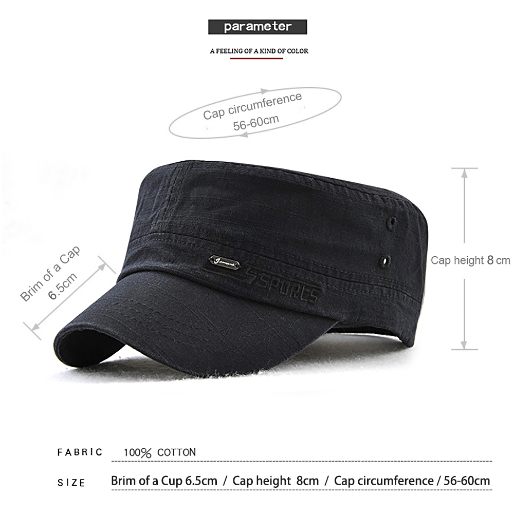 fdd0594d339 JAMONT Men and Women Embroidered Letters Sunshade Simple Wild Flat Cap-  Black
