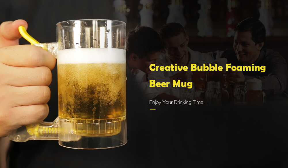 Creative Bubble Foaming Beer Mug for Bar Atmosphere Party- Transparent