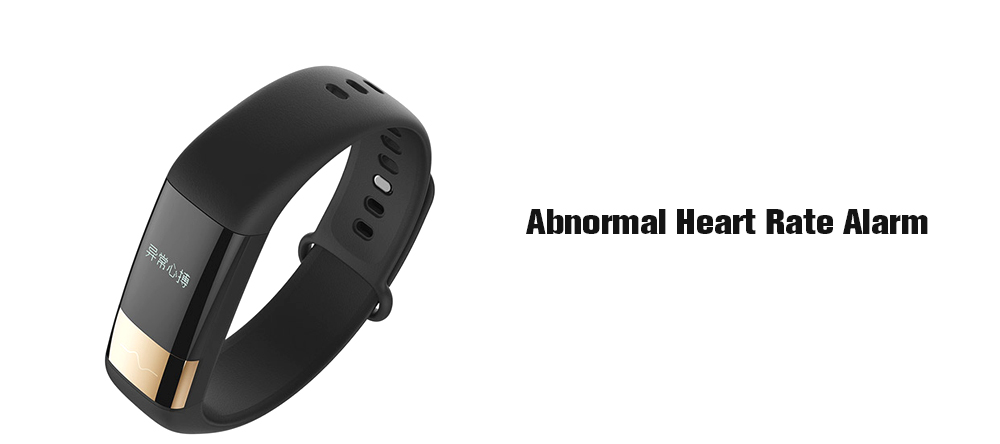 Amazfit 1S Smart Bracelet Bluetooth 4.0 IP67 Waterproof Heart Rate Monitor Pedometer Functions- Black