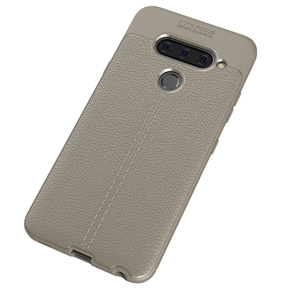 Cover rigida in TPU tinta unita antiurto per LG V40- Gray