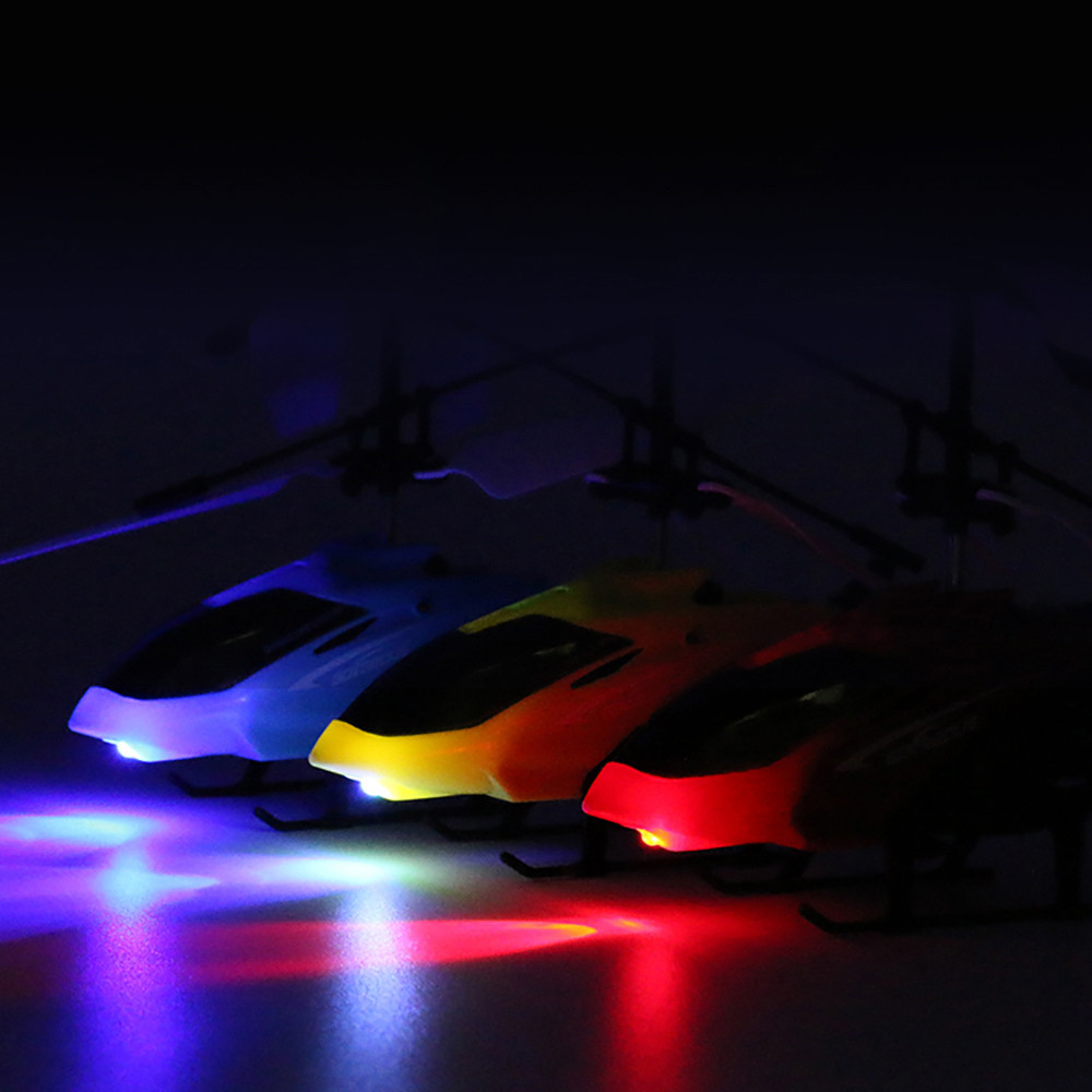 RC Hand Induction Flying Aircraft Helicopter Toys for Kids- Ocean Blue