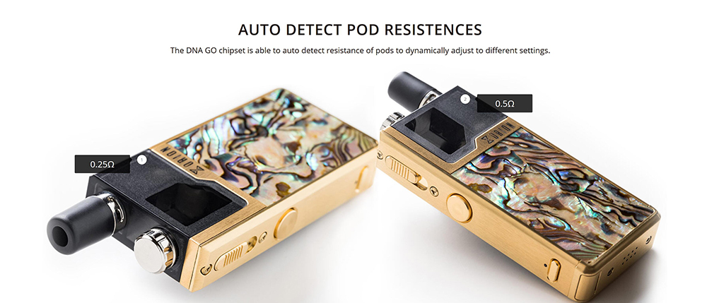 Lost Vape Orion DNA GO AIO Pod Kit with Built-in 950mAh Li-ion Battery- Golden brown
