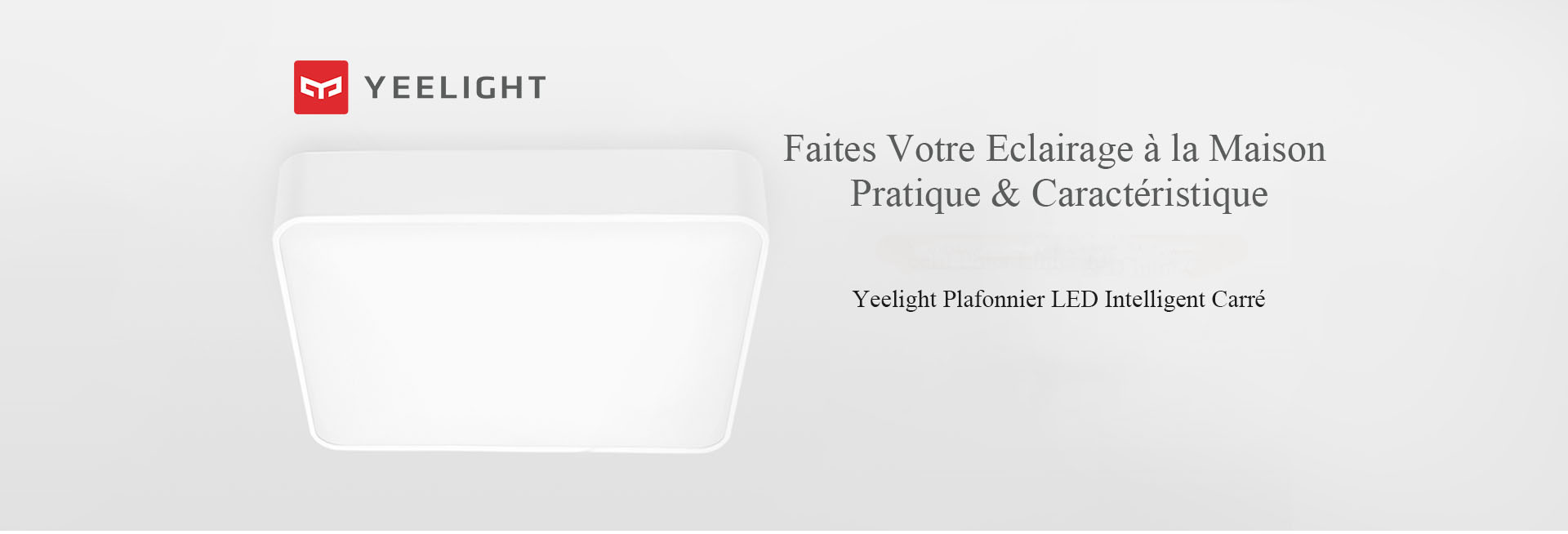 Yeelight Plafonnier LED Carré Simple- White